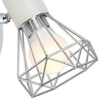 srebrna lampa sufitowa druciane klosze diamenty