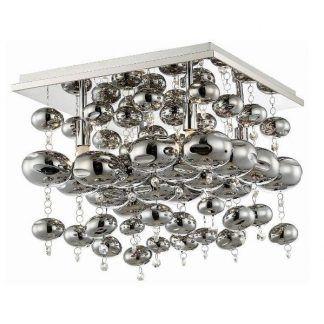 srebrna lampa sufitowa glamour szklane kule