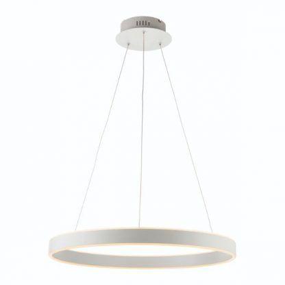 srebrna lampa wisząca led ring