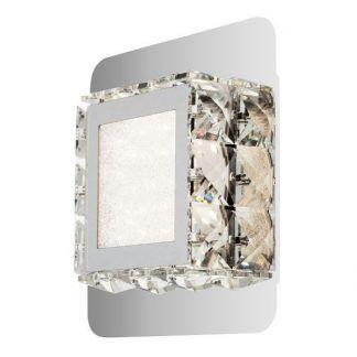 srebrny kinkiet glamour kryształki