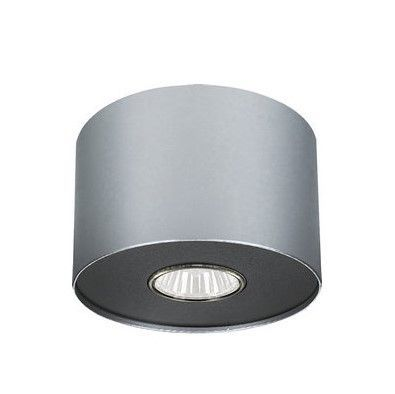 srebrny spot sufitowy okrągły