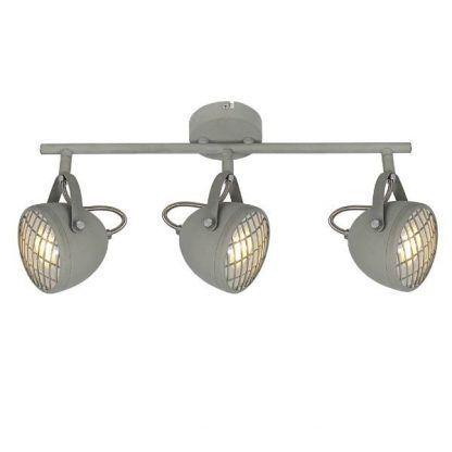 szara lampa sufitowa duże reflektory industrialna