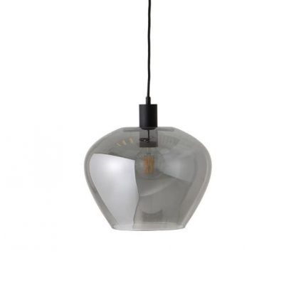 szara szklana lampa wisząca