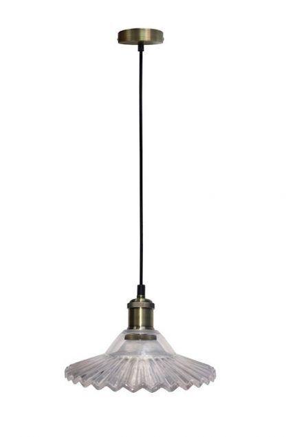 szklana lampa wisząca dekoracyjny klosz vintage