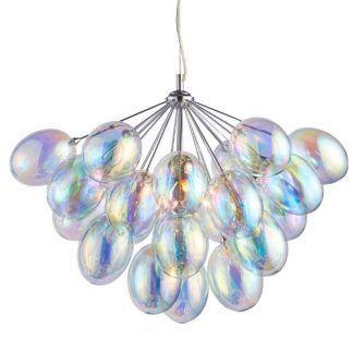 szklana lampa wisząca klosze bańki mydlane