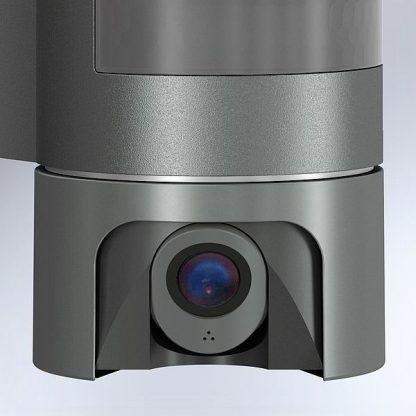 zewnętrzny kinkiet z kamerą