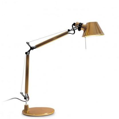złota lampa biurkowa do gabinetu do sypialni