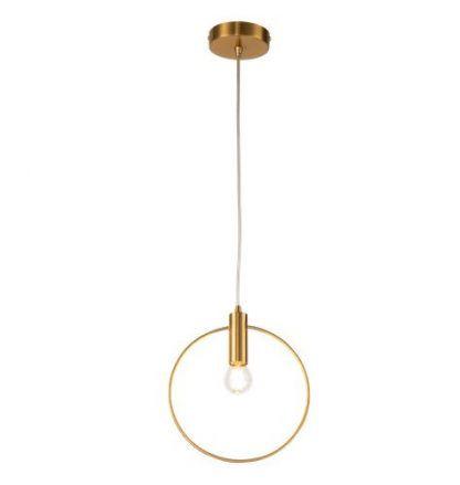 złota lampa wisząca cienka obręcz