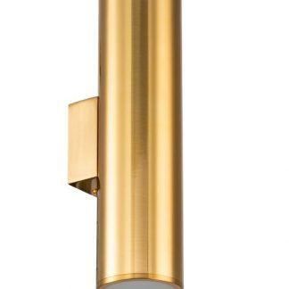 złoty kinkiet tuba nowoczesny