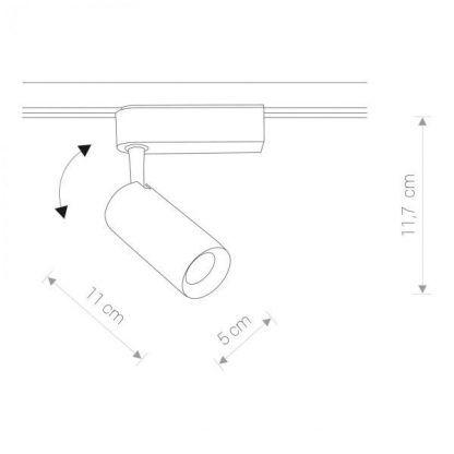 Reflektor szynowy Profile Iris LED do nowoczesnego salonu
