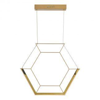 Lampa wisząca Hexagon do nowoczesnego gabinetu