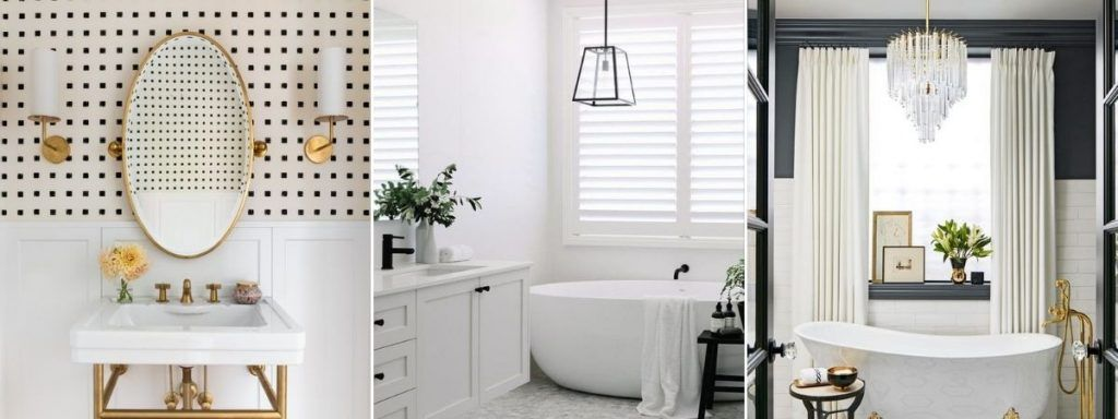 klasyczna łazienka oświetlenie