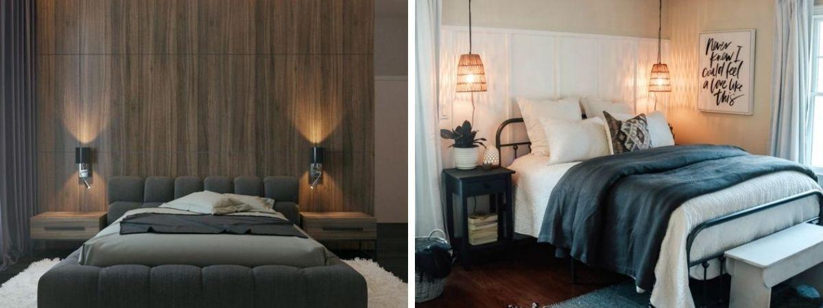 barwy światła w sypialni