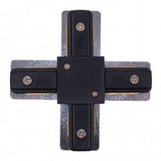Łącznik krzyżowy Profile X-connector - czarny, system szynowy
