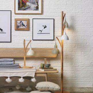 Lampa Blyton do sofy w salonie