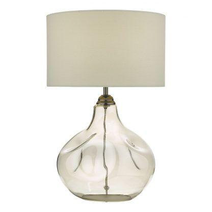 Lampa stołowa Esarosa na kominek w salonie