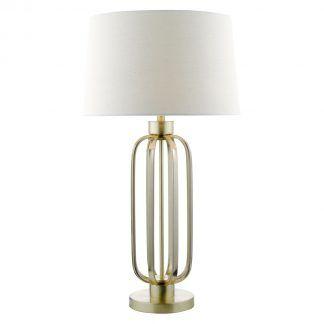 Lampa stołowa Lucie do eleganckiej sypialni
