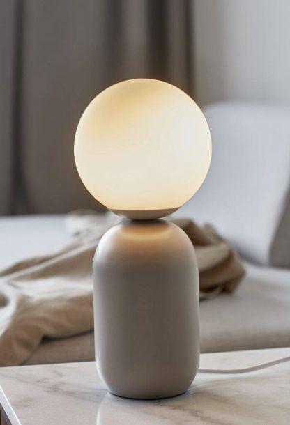 Lampa stołowa Notti na stolik kawowy w salonie