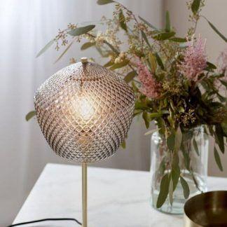 Lampa stołowa Orbiform na szafkę w sypialni