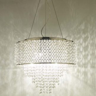 Lampa wisząca Acelynn do przestronnego salonu