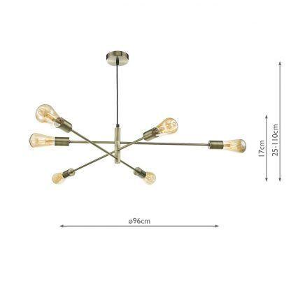 wymiary - Lampa wisząca Alana - styl loft