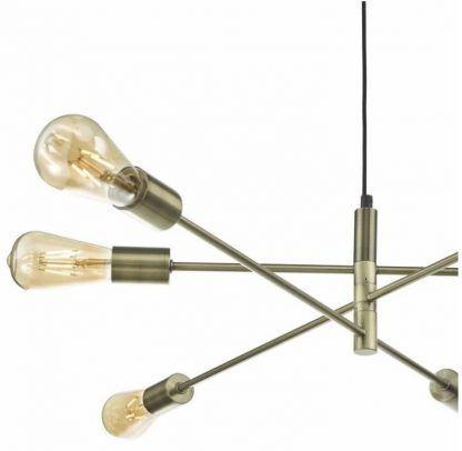przybliżenie - Lampa wisząca Alana - styl loft