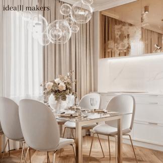 Lampa wisząca Bubbles nad szafkę do salonu