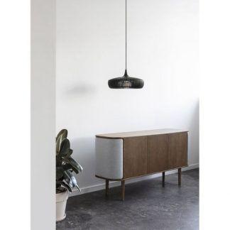 Lampa wisząca Clava Dine Wood nad komodę w salonie