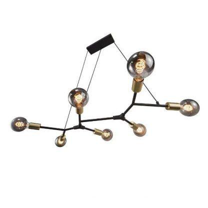 dół - Lampa Josefine - industrialna nad stół w jadalni