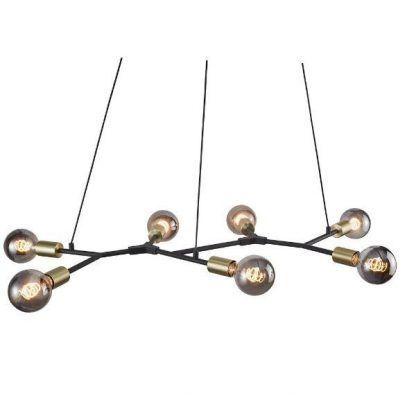 7 żarówek - Lampa Josefine - industrialna nad stół w jadalni