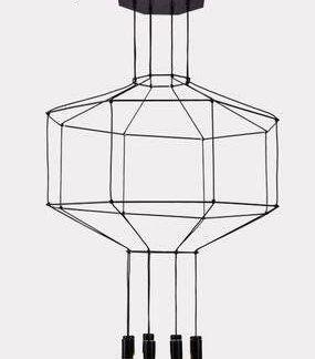 Lampa wisząca Linea do nowoczesnego salonu