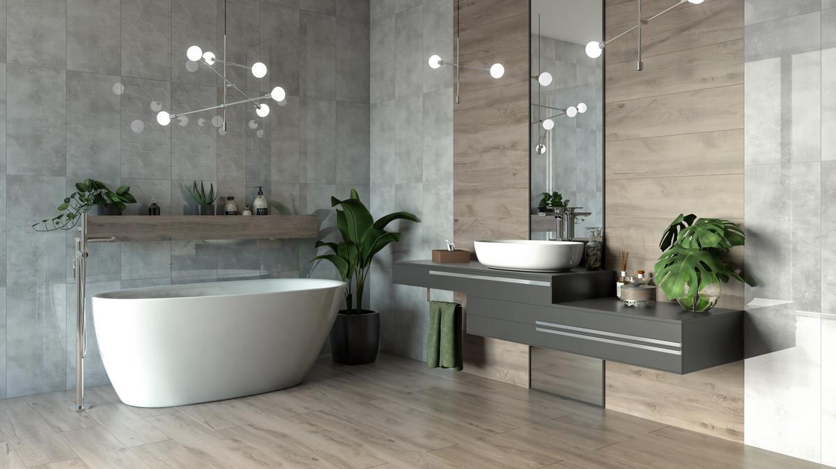 nowoczesne oświetlenie łazienki