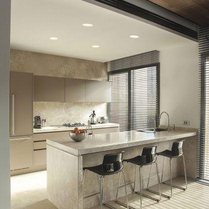 Oczko sufitowe Blanco Round nad blat w kuchni