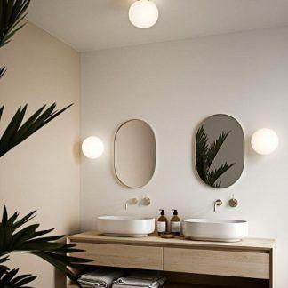Plafon Alton ze szklanym kloszem do łazienki