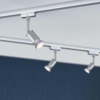 Zestaw szynowy Pure II - URail, 3 reflektory, srebrny