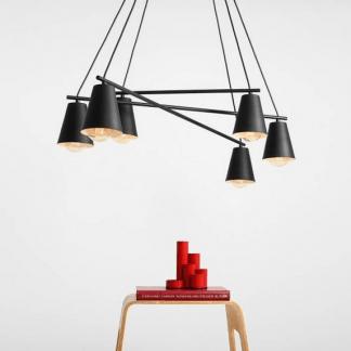 Żyrandol Arte nad długi stół w jadalni