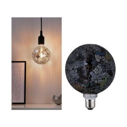 Żarówka dekoracyjna Mosaic G125 - E27, 2700K, czarna
