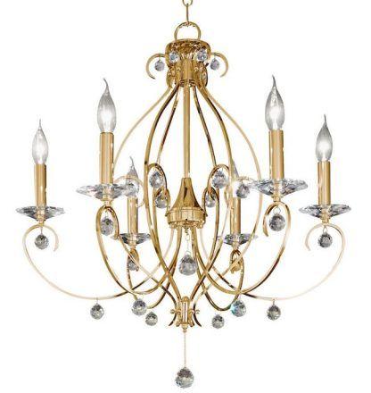 Żyrandol CARAT Crystal do romantycznego salonu