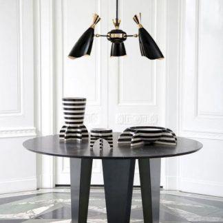 Żyrandol Simon nad okrągły stół do jadalni