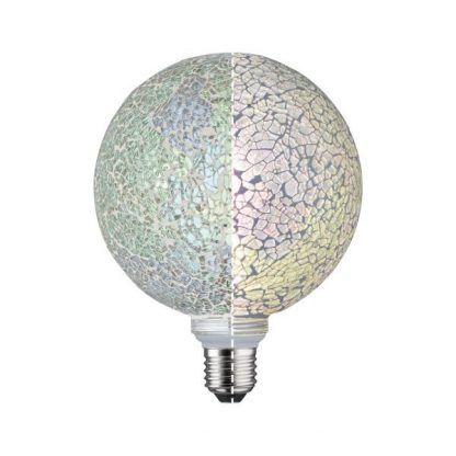 Żarówka dekoracyjna Mosaic G125 - E27, 2700K, zielona