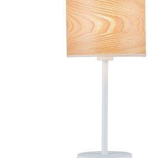 Biała lampa stołowa Neordic Neta do jadalni