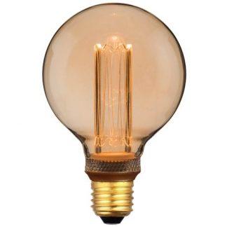 Bursztynowa żarówka dekoracyjna E27 - LED, ciepłe światło