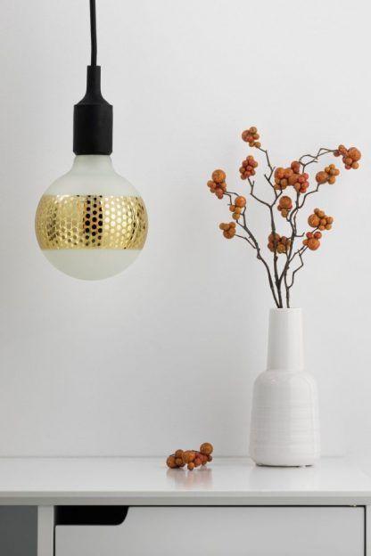 Dekoracyjna żarówka Ring G125 - złota, LED, E27, 2700K