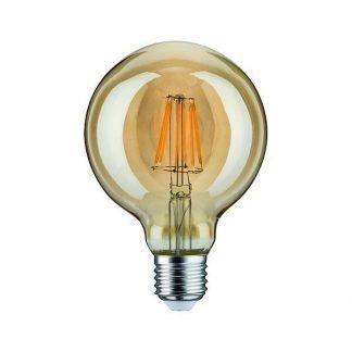 Duża żarówka dekoracyjna - LED, E27, 2500K, złota