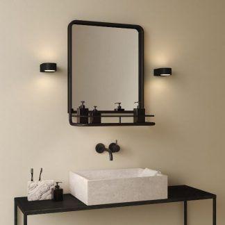 Kinkiet Epsilon jako doświetlenie lustra w łazience