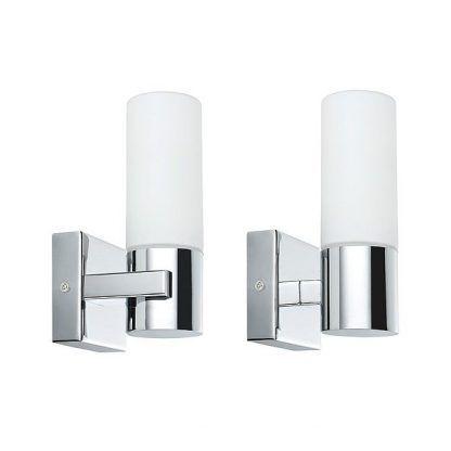 dwa Kinkiet Gemini do lustra w łazience