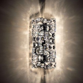 Kinkiet Mosaix Swarovski jako doświetlenie sypialni