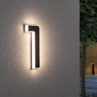 Kinkiet zewnętrzny jako numer domu - nr 1