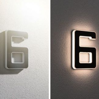 Kinkiet zewnętrzny jako numer domu - nr 6