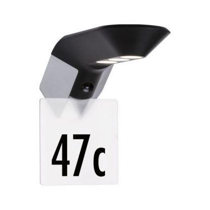 Kinkiet zewnętrzny Soley do oświetlenia numeru domu